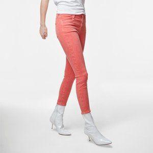 J Brand alana grapefruit eyelets skinny jeans